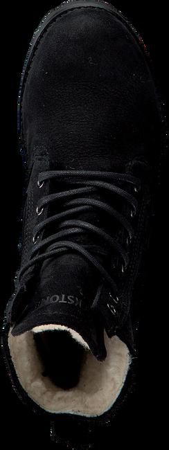 Schwarze BLACKSTONE Schnürstiefel OL22 - large