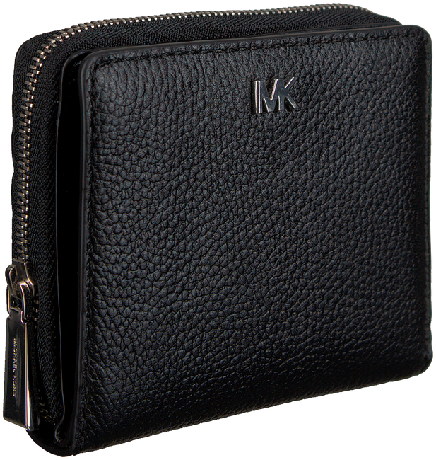 Schwarze MICHAEL KORS Portemonnaie MONEY PIECES ZA SNAP WALLET - large