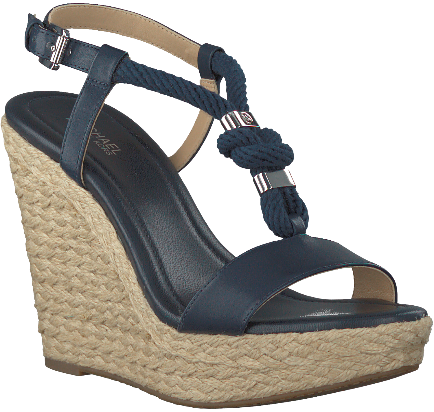 blaue michael kors sandalen holly wedge schuhmode online. Black Bedroom Furniture Sets. Home Design Ideas