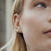 Goldfarbene ALLTHELUCKINTHEWORLD Ohrringe PARADE EARRINGS LIPS - small