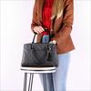 Graue GUESS Handtasche KATHRYN GIRLFRIEND SATCHEL  - small