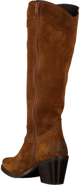 Cognacfarbene RED-RAG Hohe Stiefel 77004  - large