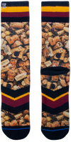 Mehrfarbige/Bunte XPOOOS Socken CORKY  - medium