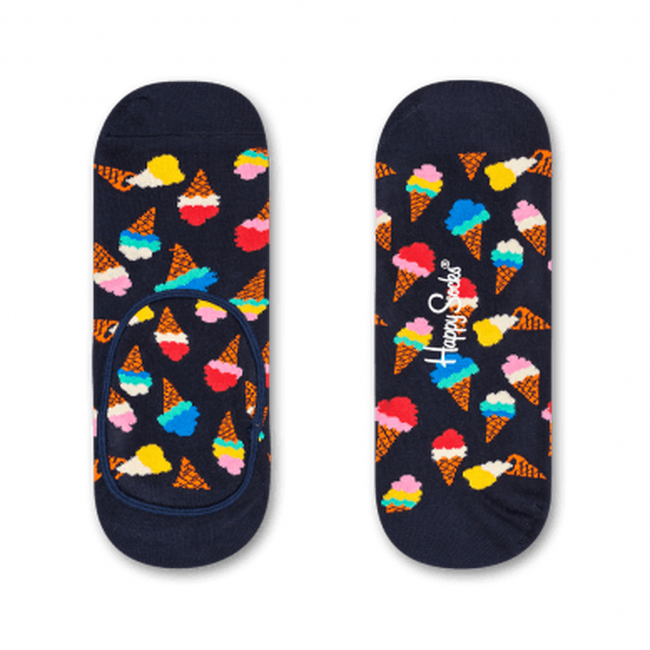Schwarze HAPPY SOCKS Socken ICECREAM LINER  - large