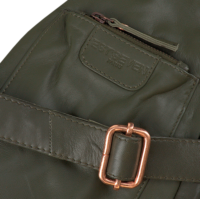 Bronzefarbene EST'SEVEN Umhängetasche EST' LEATHER BAG MIREL  - large