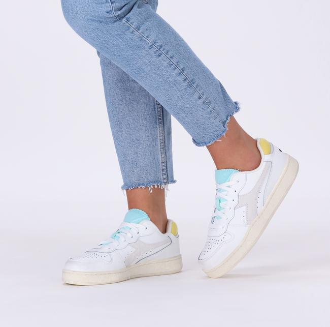 Weiße DIADORA Sneaker low MI BASKET LOW ICONA WN  - large