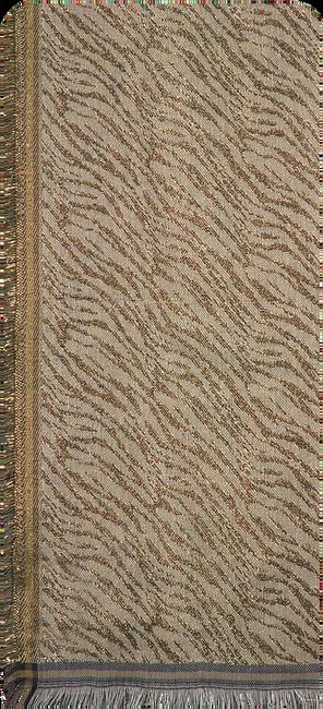 Goldfarbene BECKSONDERGAARD Schal MILLE ZEBRA SCARF  - large