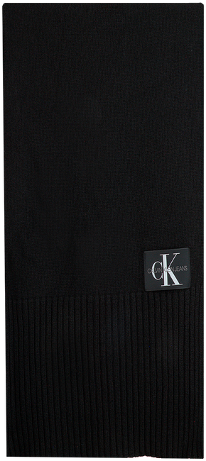 Schwarze CALVIN KLEIN Schal J BASIC MEN KNITTED SCARF  - large