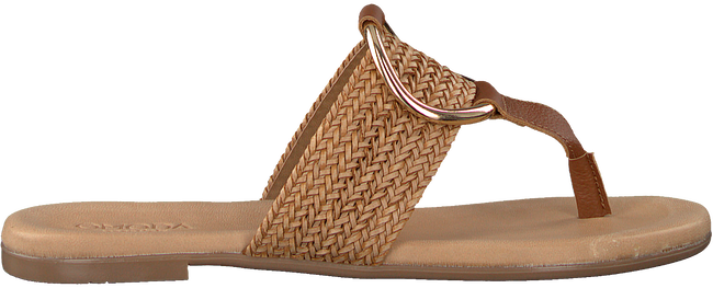Cognacfarbene OMODA Pantolette 17981  - large