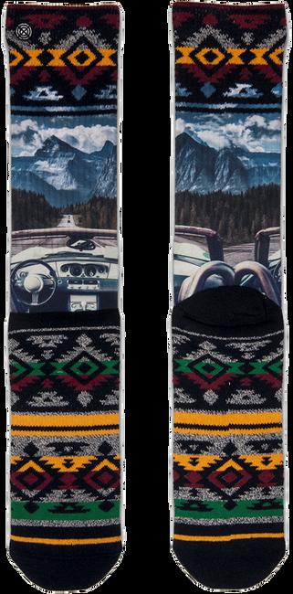 Schwarze XPOOOS Socken ON THE ROAD - large
