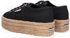 Schwarze SUPERGA Sneaker low 2790 ROPE  - small