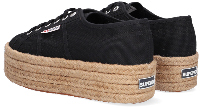 Schwarze SUPERGA Sneaker low 2790 ROPE  - large