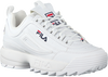 white FILA shoe DISRUPTOR S LOW WMN  - small