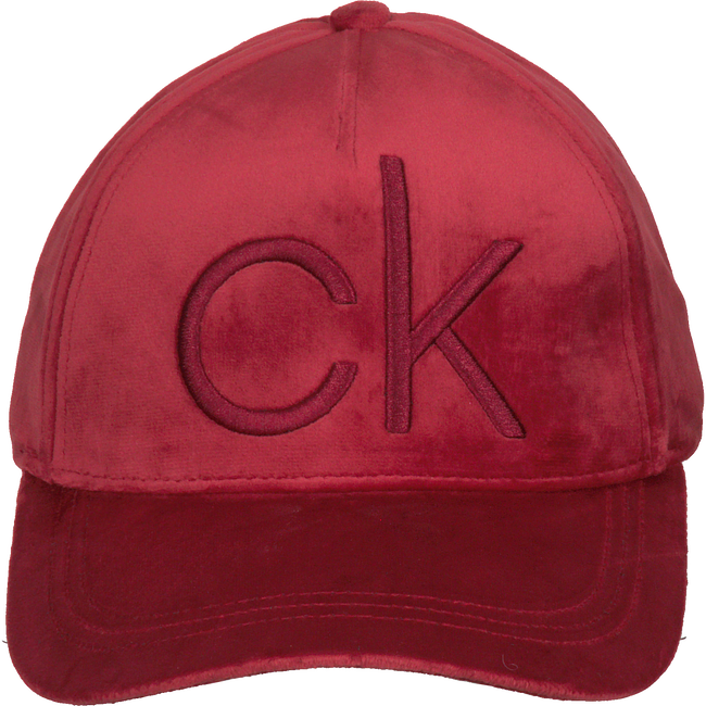 Rote CALVIN KLEIN Kappe CK VELVET BASEBALL CAP  - large