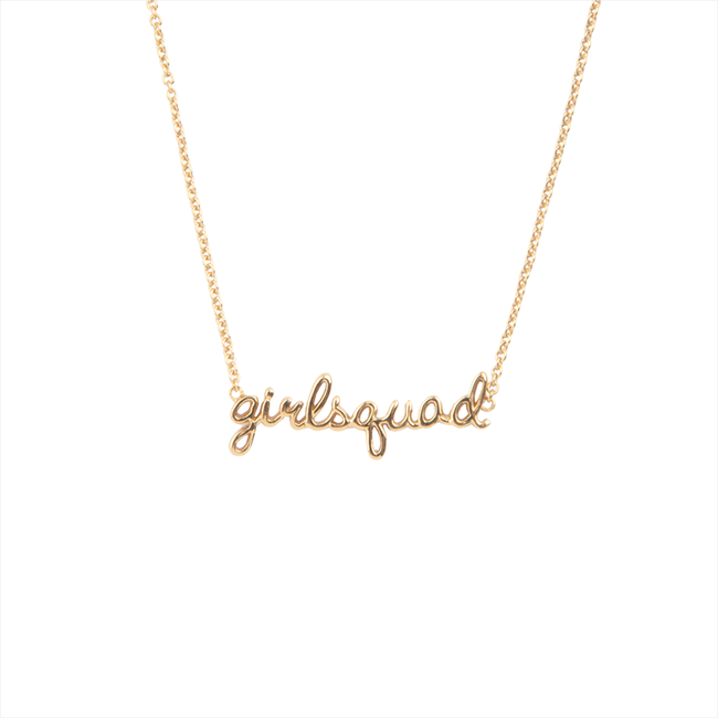 Goldfarbene ALLTHELUCKINTHEWORLD Kette URBAN NECKLACE GIRLSQUAD - large