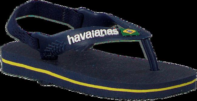 Blaue HAVAIANAS Pantolette BABY BRASIL LOGO II  - large