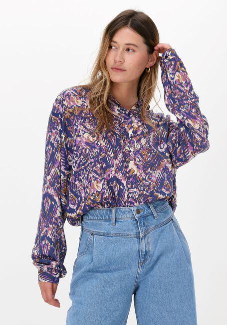 Blaue LOLLY'S LAUNDRY Bluse LARI SHIRT  - large