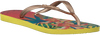 Gelbe HAVAIANAS Zehentrenner SLIM TROPICAL - small