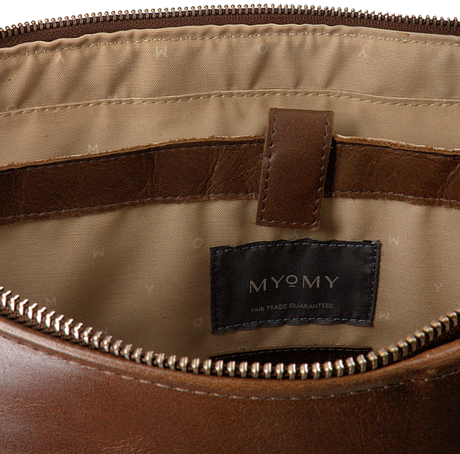 Braune MYOMY Handtasche WRAPPED WORKBAG  - large