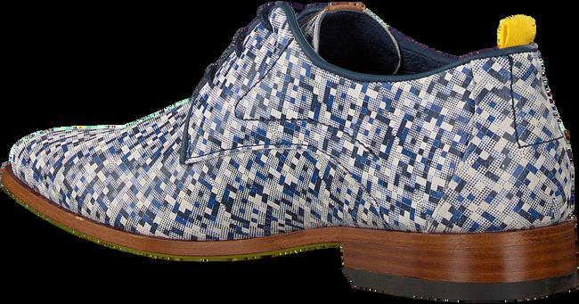 Blaue REHAB Business Schuhe GREG PIXELMANIA  - large