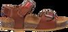 Cognacfarbene RED-RAG Sandalen 19135  - small