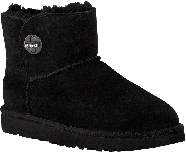 Schwarze UGG Winterstiefel MINI TURNLOCK BLING - large