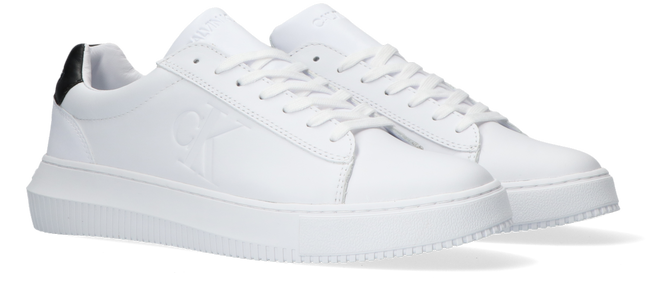 Weiße CALVIN KLEIN Sneaker low CHUNKY SOLE SNEAKER LACEUP LTH  - large