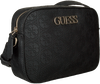 Schwarze GUESS Umhängetasche KAMRYN CROSSBODY TOP ZIP  - small