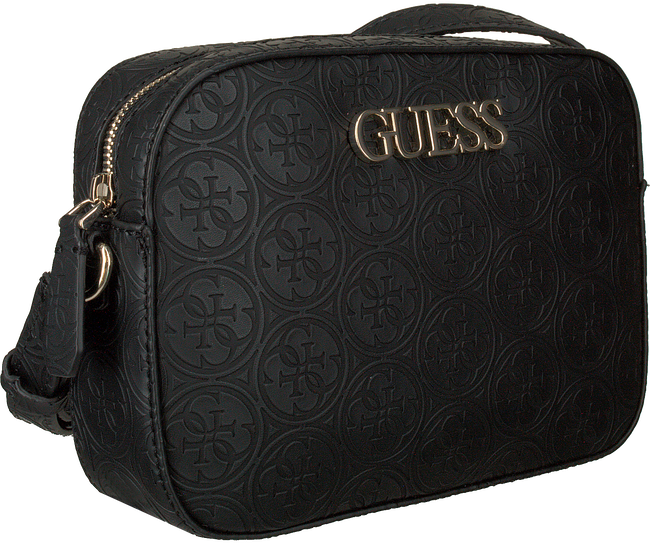 Schwarze GUESS Umhängetasche KAMRYN CROSSBODY TOP ZIP  - large