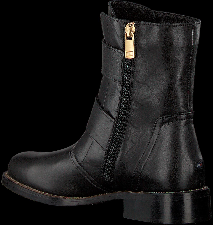 gutes Angebot preiswert kaufen Discounter Schwarze TOMMY HILFIGER Chelsea Boots OVERSIZED BUCKLE FLAT BOOT