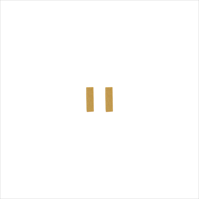 Goldfarbene ALLTHELUCKINTHEWORLD Ohrringe PETITE EARRINGS MINUS - large