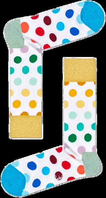 Weiße HAPPY SOCKS Socken PRIDE BIG DOT  - large