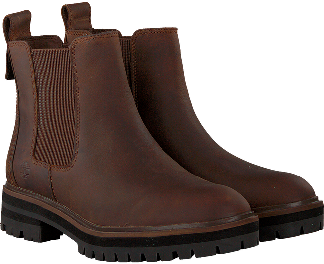 Braune TIMBERLAND Chelsea Boots LONDON SQUARE DOUBLE GORE  - large