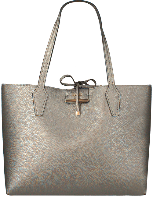 Silberne GUESS Handtasche BOBBI INSITE OUT TOTE  - large