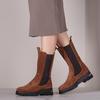 Cognacfarbene NOTRE-V Chelsea Boots KIM  - small