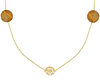 Goldfarbene JEWELLERY BY SOPHIE Kette NECKLACE DESERT - small
