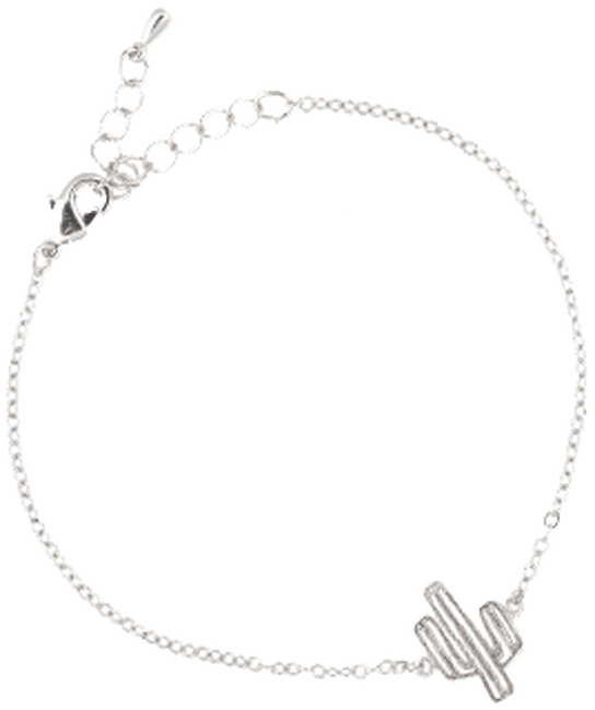 Silberne ALLTHELUCKINTHEWORLD Armband ELEMENTS BRACELET CACTUS - large