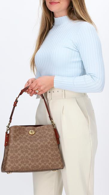 Beige COACH Handtasche WILLOW SHOULDER BAG  - large