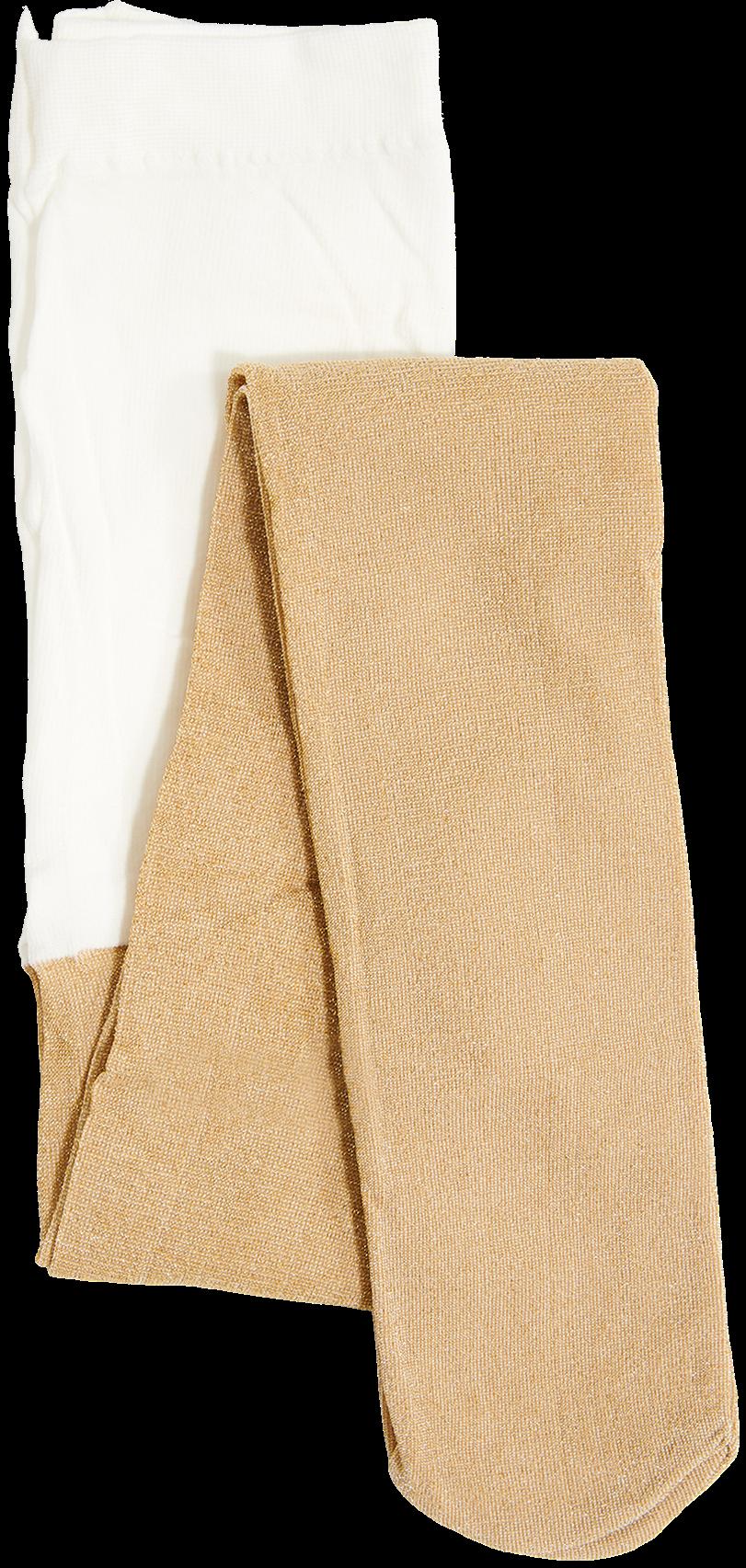 Goldfarbene LE BIG Socken SPARKLE TIGHT alYoN