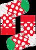 Mehrfarbige/Bunte HAPPY SOCKS Socken BIG DOT SNOWMAN  - small