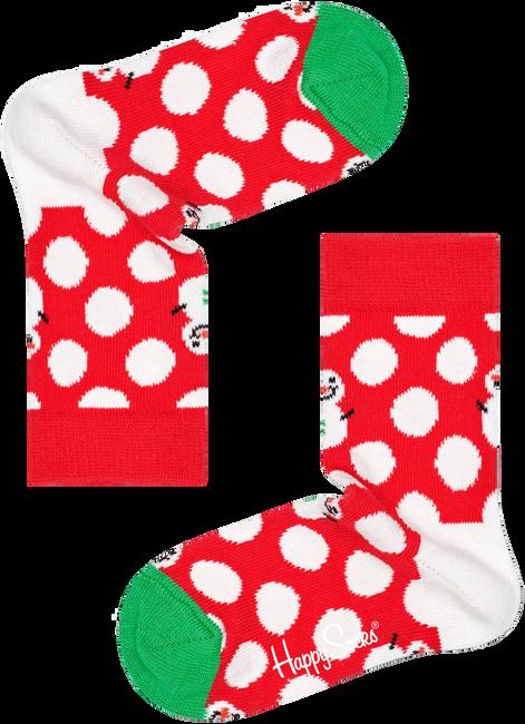 Mehrfarbige/Bunte HAPPY SOCKS Socken BIG DOT SNOWMAN  - large