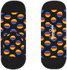 Schwarze HAPPY SOCKS Socken SUNRISE DOT LINER  - small
