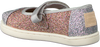 Silberne TOMS Ballerinas MARY JANE  - small