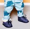 Blaue BERGSTEIN Babyschuhe PANDA  - small