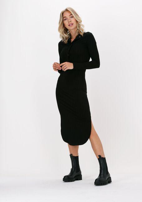 Schwarze JUST FEMALE Midikleid ACROSS DRESS - large