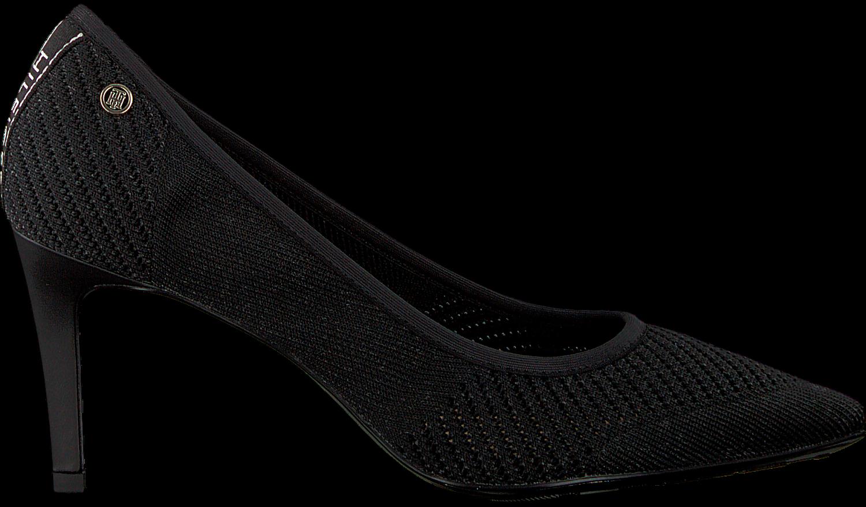 best service 9d81f f43e2 Black TOMMY HILFIGER shoe TOMMY KNIT POINTY PUMP