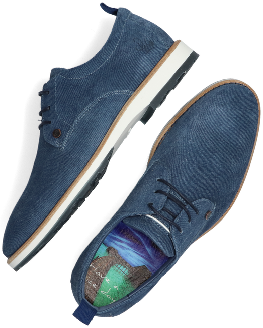 Blaue REHAB Business Schuhe POZATO STRIPES 121A  - large