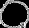 Silberne ALLTHELUCKINTHEWORLD Armband CHARACTER BRACELET LETTER SILV - small