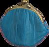 Blaue BECKSONDERGAARD Portemonnaie GRANNY RAINBOW AW19  - small