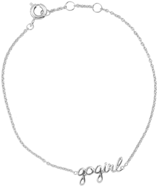 Silberne ALLTHELUCKINTHEWORLD Armband URBAN BRACELET GOGIRL - large
